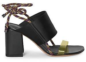 Dries Van Noten Women's Satin & PVC-Strap Block Heel Sandals