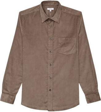 Reiss Racer - Corduroy Shirt in Taupe