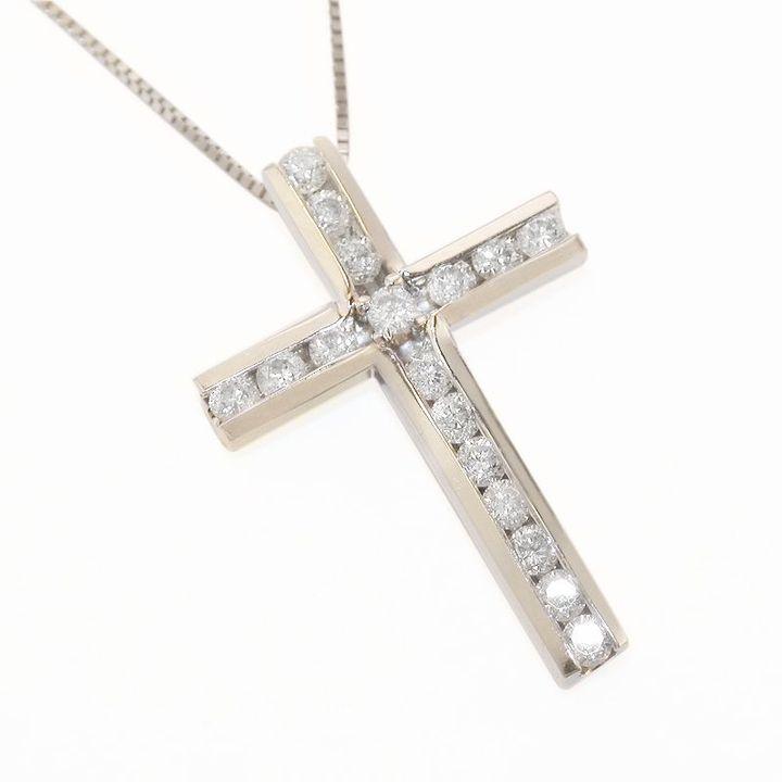 Carlina™ 14k white gold 1/2-ct. t.w. diamond cross pendant