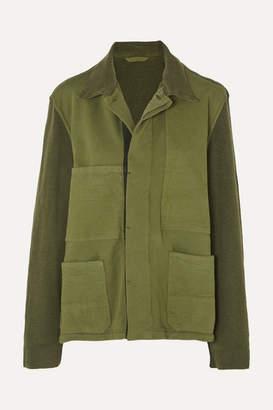 Haider Ackermann Paneled Cotton Jacket - Green