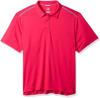 Cutter & Buck Men's Moisture Wicking 50+ UPF Fusion Snap Placket Polo Shirt