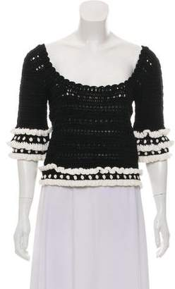 Apiece Apart Tiered Crocheted Top