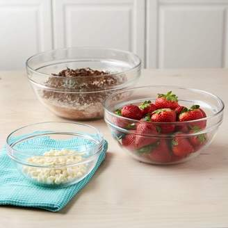 Tasty 3pc Glass Mixing Bowl Set