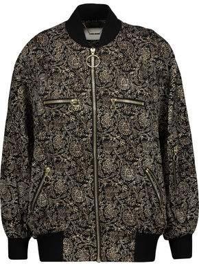 Zimmermann Lavish Printed Silk-Satin Bomber Jacket