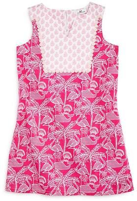 Vineyard Vines Girls' Flamingo-Print Shift Dress - Big Kid