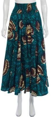 Stella Jean Printed Midi Skirt