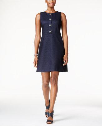 Tommy Hilfiger Turnkey Denim A-Line Dress $129 thestylecure.com