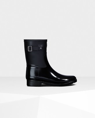 Hunter Women's Refined Slim Fit Gloss Duo Short Rain Boots