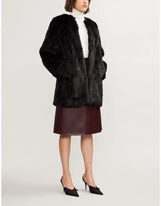 MICHAEL Michael Kors Round-neck faux-fur coat