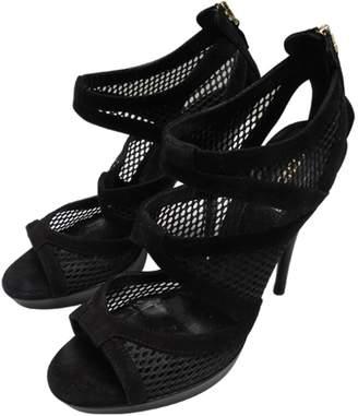 Fendi Black Suede Heels