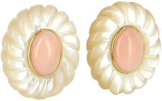 One Kings Lane Vintage Coral & Mother-of-Pearl Earrings