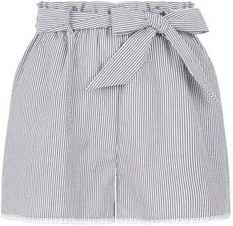 Jonathan Simkhai Striped Lace Trim Shorts