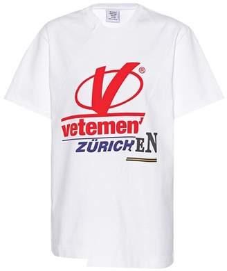 Vetements Patchwork cotton T-shirt