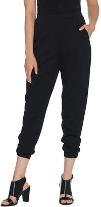 Halston H By H by Regular Knit Crepe Jogger Pants with Pockets