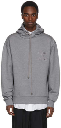 Juun.J Grey Forget The Rules Hoodie