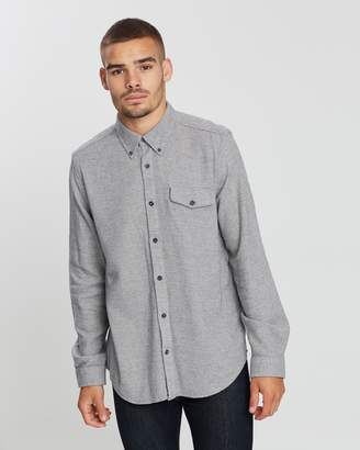 Ben Sherman Long Sleeve Textured Parquet Shirt
