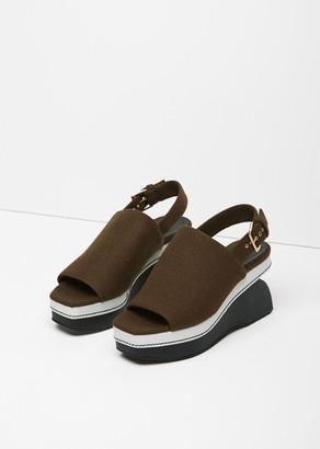 Marni Contrast Heel Felt Wedge $880 thestylecure.com