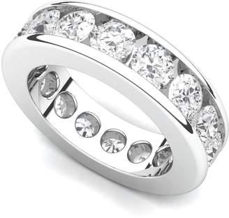 Victoria's Secret Juno Jewelry 14k White Gold Channel set Diamond Eternity Band Ring (/VS, 4 ct.), 6