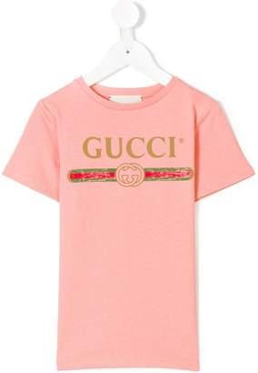Gucci Kids logo print T-shirt
