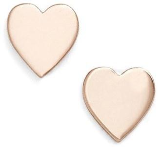 Women's Poppy Finch Mini Sweetheart Stud Earrings $155 thestylecure.com