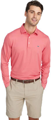Vineyard Vines Two-Color Long-Sleeve Sankaty Performance Polo
