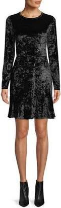 MICHAEL Michael Kors Long-Sleeve Velvet Dress