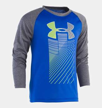 Under Armour Boys' Infant UA Rising Big Logo Raglan Long Sleeve Shirt