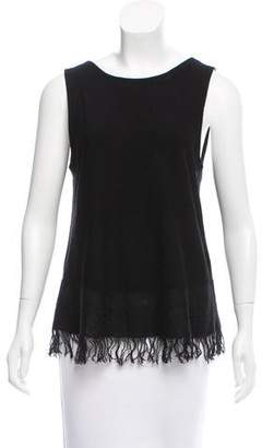 Theory Fringe-Trimmed Sleeveless Top