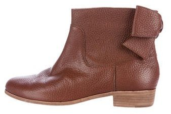 Kate Spade New York Leather Round-Toe Ankle Boots