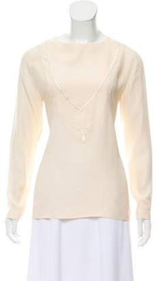 Chanel Embroidered Silk Top