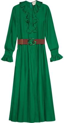 Gucci Silk dress with Double G belt