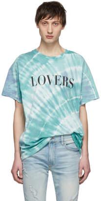 Amiri Blue Tie-Dye Lovers T-Shirt