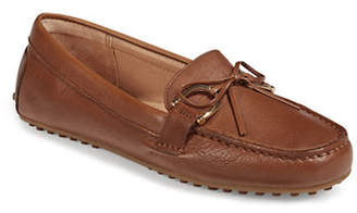 Lauren Ralph Lauren Womens Stirrup Trim Leather Loafers