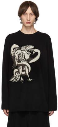 Yohji Yamamoto Black Eagle Snake Crewneck Sweater