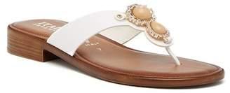 Italian Shoemakers Zelda Embellished Thong Sandal