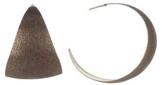 Tomas Maier Textured Brass Hoop Earrings