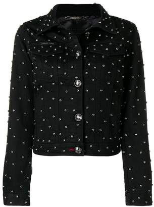 Philipp Plein crystal embellished denim jacket
