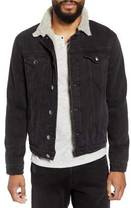Frame L'Homme Fleece Lined Denim Jacket