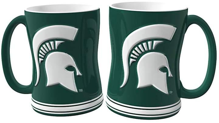 Michigan State Spartans 2-pc. Relief Coffee Mug Set