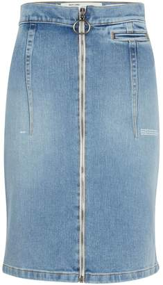 Off-White Off White High-waisted denim skirt