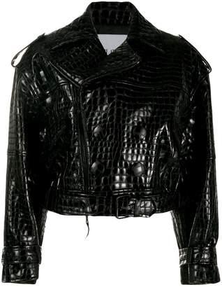 ATTICO cropped biker jacket