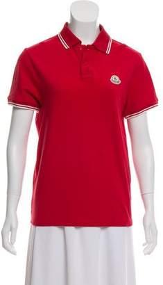 Moncler Striped Short Sleeve Polo Shirt