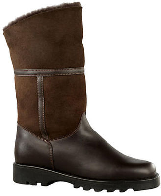 La Canadienne Kosmo Shearling-Lined Suede and Leather Boots $210 thestylecure.com