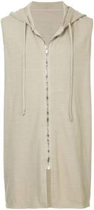 Rick Owens sleeveless zip hoodie