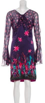 Zac Posen Silk Floral Dress