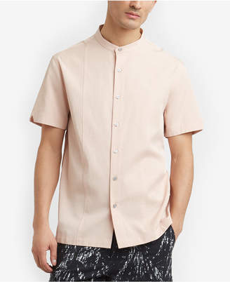Kenneth Cole Men's Band-Collar Shirt