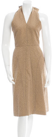 Saint LaurentYves Saint Laurent Textured Halter Dress
