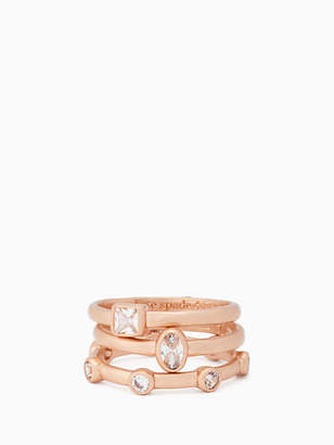 Kate Spade Elegant edge stackable ring set