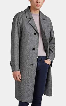 Sanyo MEN'S HOUNDSTOOTH WOOL OVERCOAT