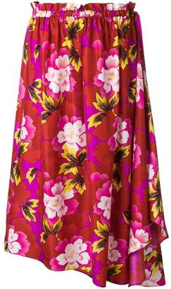 Kenzo floral print asymmetric skirt